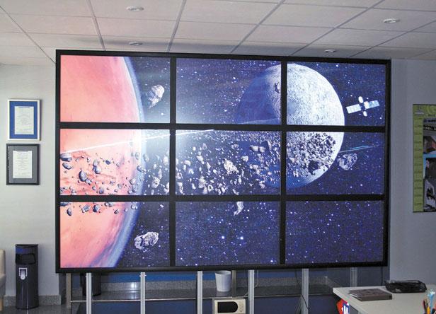ściana z monitorów bezszwowych