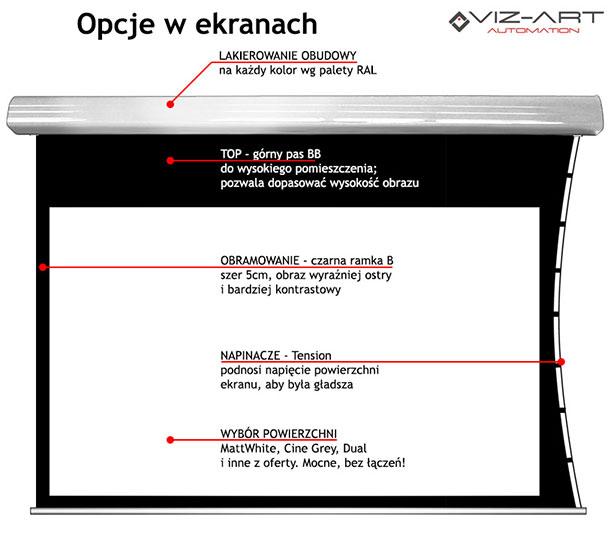 ekran z napędem Somfy