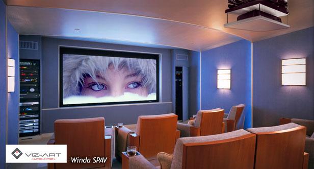 winda do projektora nad sufitem